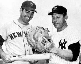 Ed Kranepool and Mickey Mantle