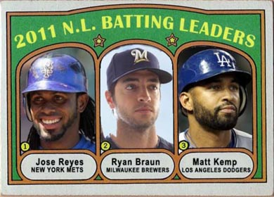 1972 Jose Reyes (2011 N.L. Batting Leaders)